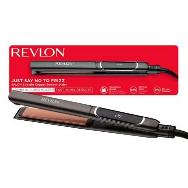 Placa de indreptat parul REVLON Salon Straight Copper Smooth RVST2175E2, afisaj LCD