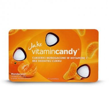 Drajeuri fara zahar VitaminCandy cu Vitamina C si gust de mandarine, 18 g