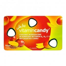 Drajeuri fara zahar VitaminCandy multivitamine cu gust de mango, 18 g