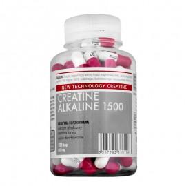 Creatina Megabol CREATINE ALKALINE 1500, 120 capsule, creatina monohidrat cu Ph ridicat, nu este necesara faza de incarcare