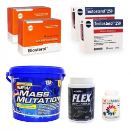 Pachet Megabol Forte masa musculara, 7 produse stimulare testosteron, suport proteic si energie, suport articulatii si vitamine