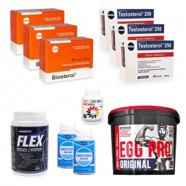 Pachet Megabol Magnum anabolic, 11 produse, stimulare testosteron si hormon de crestere, proteine de calitate, suport articulatii si vitamine