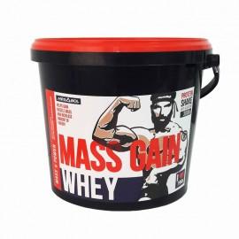 Supliment gainer de proteine Megabol Whey Mass Gain 3000 g, proteine din zer si din germeni de grau, vitamine si acid glutamic